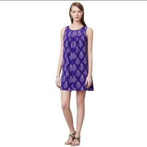Maeve purple floral anthropology shift dress small